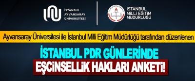 İstanbul PDR günlerinde eşcinsellik hakları anketi!