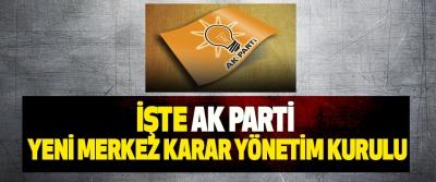İşte AK Parti yeni Merkez Kara Yönetim Kurulu