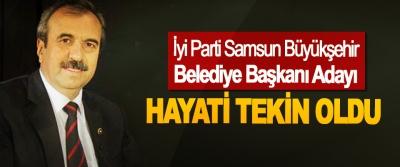 İyi Parti Samsun Büyükşehir Belediye Başkanı Adayı Hayati Tekin Oldu