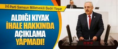 İYİ Parti Samsun Milletvekili Bedri Yaşar Mansur Yavaş'tan Aldığı Kıyak İhale Hakkında Açıklama Yapmadı!