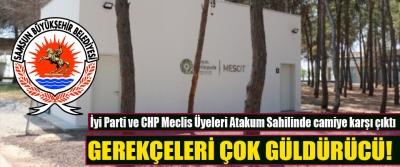 İyi Parti ve CHP Meclis Üyeleri Atakum Sahilinde camiye karşı çıktı