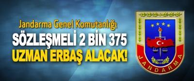 Jandarma Genel Komutanlığı Sözleşmeli 2 bin 375 uzman erbaş alacak!