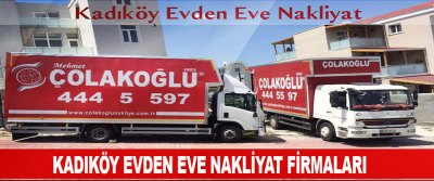 Kadıköy evden eve nakliyat firmaları