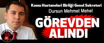 Samsun Kamu Hastaneleri Birliği Genel Sekreteri Dursun Mehmet Mehel Görevden Alındı