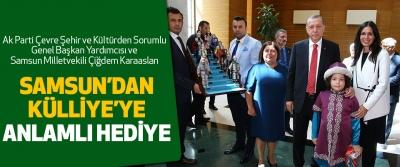 Karaaslan Samsun'da Hazırlanan Hediyeleri Cumhurbaşkanı'na Ulaştırdı
