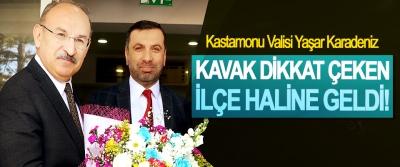 Kastamonu Valisi Yaşar Karadeniz: Kavak dikkat çeken ilçe haline geldi!