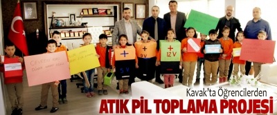 Kavak'ta Öğrencilerden Atık Pil Toplama Projesi