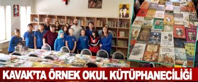 Kavak'ta Örnek Okul Kütüphaneciliği