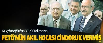 Kılıçdaroğlu'na Yürü Talimatını Fetö'nün Akıl Hocası Cindoruk Vermiş