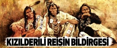Kızılderili Reisin Bildirgesi