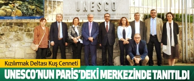 Kızılırmak Deltası Kuş Cenneti UNESCO'nun Paris'deki Merkezinde Tanıtıldı