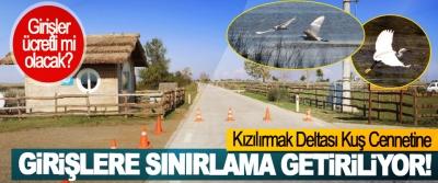Kızılırmak Deltası Kuş Cennetine Girişlere Sınırlama Getiriliyor!