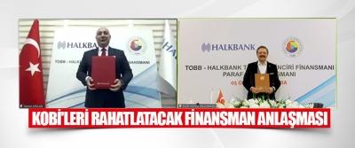 Kobi'leri Rahatlatacak Finansman Anlaşması