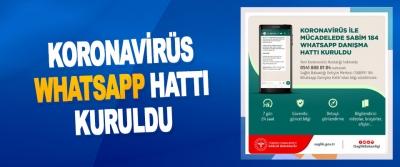 Koronavirüs Whatsapp Hattı Kuruldu