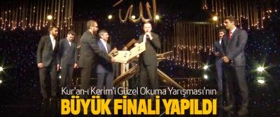 kur'an-ı kerim'i güzel okuma yarışması'nın büyük finali yapıldı