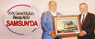 KYK Genel Müdürü Recep Ali Er Samsun'da