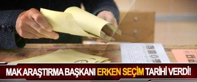 MAK Araştırma Başkanı Erken Seçim Tarihi Verdi!