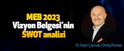 MEB 2023 Vizyon Belgesi'nin SWOT analizi
