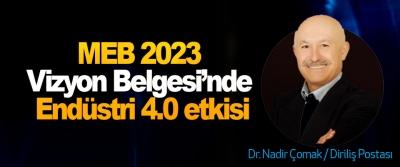 MEB 2023 Vizyon Belgesi'nde Endüstri 4.0 etkisi