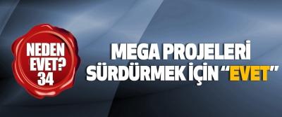 """Mega projeleri sürdürmek için """"evet"""""""