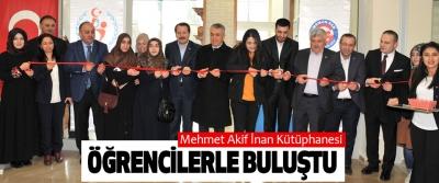 Mehmet Akif İnan Kütüphanesi Öğrencilerle Buluştu