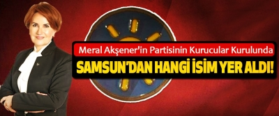 Meral Akşener'in Partisinin Kurucular Kurulunda Samsun'dan hangi isim yer aldı!