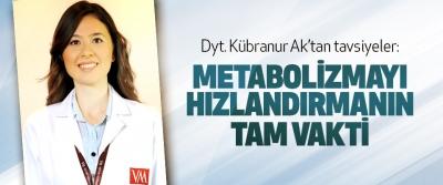 Metabolizmayı Hızlandırmanın Tam Vakti
