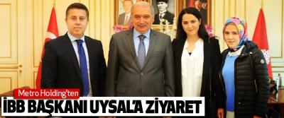 Metro holding'ten İstanbul büyükşehir belediye başkan uysal'a ziyaret