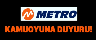 Metro turizm'den  Kamuoyuna duyuru!