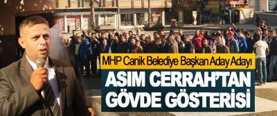 MHP Canik Belediye Başkan Aday Adayı Asım Cerrah'tan Gövde Gösterisi
