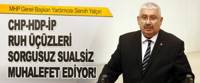 MHP Genel Başkan Yardımcısı Semih Yalçın CHP-HDP-İP Ruh Üçüzleri Sorgusuz Sualsiz Muhalefet Ediyor!
