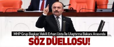 MHP Grup Başkan Vekili Erhan Usta İle Ulaştırma Bakanı Arasında Söz düellosu!