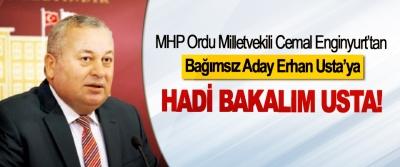MHP Ordu Milletvekili Cemal Enginyurt'tan Bağımsız Aday Erhan Usta'ya Hadi bakalım usta!