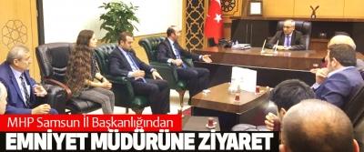 MHP Samsun İl Başkanlığından Emniyet Müdürüne Ziyaret