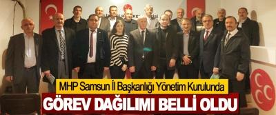 MHP Samsun İl Başkanlığı Yönetim Kurulunda Görev Dağılımı Belli Oldu