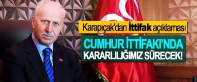 MHP Samsun İl Başkanı Karapıçak'dan 'İttifak' açıklaması