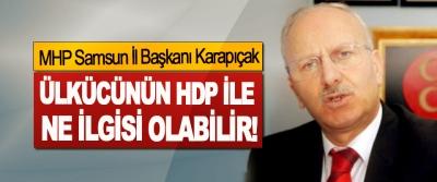 MHP Samsun İl Başkanı Karapıçak: Ülkücünün HDP ile ne ilgisi olabilir!