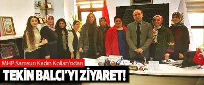 MHP Samsun Kadın Kolları'ndan Aile ve sosyal politikalar il müdürü Tekin Balcı'yı ziyaret!