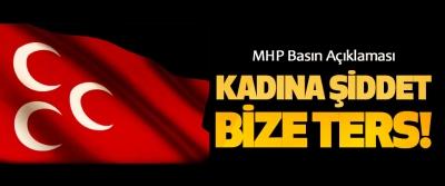 MHP Samsun'dan Basın Açıklaması: Kadına şiddet bize ters!