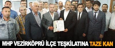 MHP Vezirköprü İlçe Teşkilatına Taze Kan