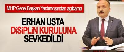 MHP'de Samsun Milletvekili Erhan Usta Disiplin Kuruluna Sevkedildi