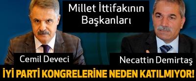 Millet ittifakının başkanları İYİ Parti'nin kongrelerine neden katılmıyor!