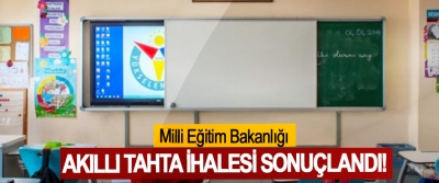 Milli Eğitim Bakanlığı Akıllı Tahta İhalesi Sonuçlandı!