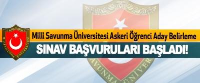 Milli Savunma Üniversitesi Askeri Öğrenci Aday Belirleme Sınavı Başvuruları Başladı!