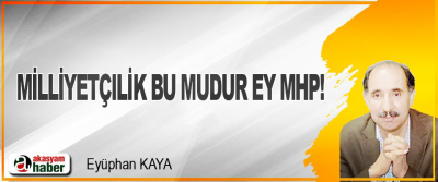 Milliyetçilik Bu Mudur Ey MHP!