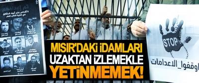 Mısır'daki idamları uzaktan izlemekle yetinmemek!