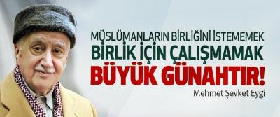 Müslümanların birliğini istememek birlik için çalışmamak büyük günahtır!