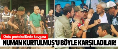 ​Numan kurtulmuş'u böyle karşıladılar!