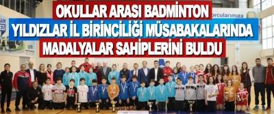 Okullar Arası Badminton Yıldızlar İl Birinciliği Müsabakalarında Madalyalar Sahiplerini Buldu