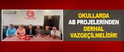 Okullarda Ab Projelerinden Derhal Vazgeçilmelidir!